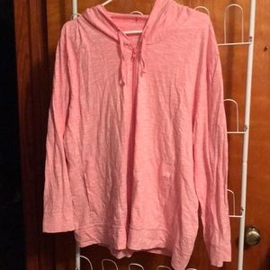 Adorable 2XL women's light full zip hoodie